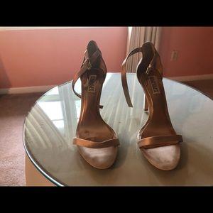 Badgley Mishka Sandals Champagne Size 8